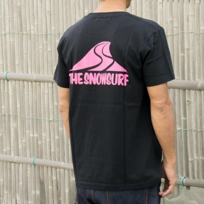 THE SNOWSURF WAVERS TEE -BLACK-