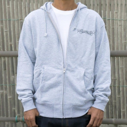 DRIFTERxWES zip hooded -GRAY-