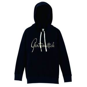 GENTEMWOMEN'S LOGO pullover hooded -navy-